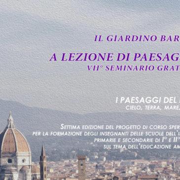 VII Seminario gratuito – A lezione di Paesaggio